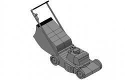 Lawn garden mover machine 3d