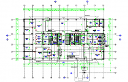 Lay-out Building detail in DWG file