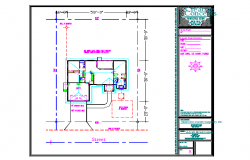 Lay-out floor design DWG File