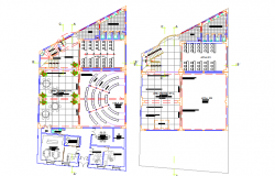 Layout Commercial plan detail dwg file