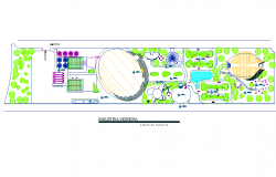 Layout Industrial plan detail dwg file