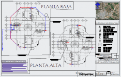 Layout Plan of Hydraulic for bungalow design drawing