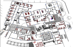 Layout Plan of Multi flooring Hospital dwg file