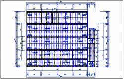 Layout Roof plan detail with roof projection plan view detail dwg file