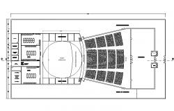 Layout auditorium plan detail dwg file