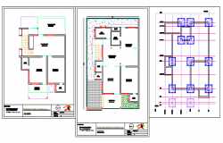 Layout design drawing of single family house design drawing