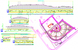 Layout detail and elevation detail dwg file