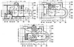 Layout house design Plans CAD drawing