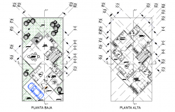 Layout house plan autocad file