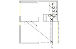 Layout house plan detail dwg file