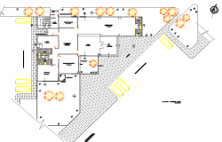 Layout industrial pavilion deposit plan detail dwg file