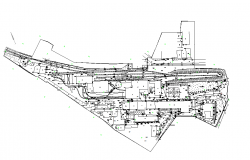 Layout of a coal mine dwg file