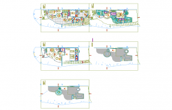 Layout of a restaurant with elevations .