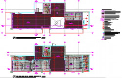 Layout of penthouse electrical details
