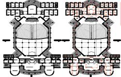 Layout plan and electrical plan detail dwg file