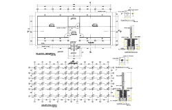 Layout plan and foundation plan detail dwg file