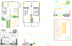 Layout plan of Architecture House dwg file