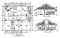 Layout plan of Clinic with autocad detail  dwg file