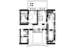 Layout plan of Residential house in autocad