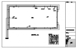 Layout plan of Swimming Pond  design drawing