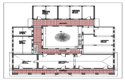 Layout plan of a Municipal shopping center dwg file