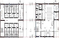 Layout plan of a bank dwg file