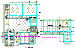Layout plan of a college dwg file