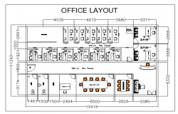 Layout plan of a corporate office dwg file
