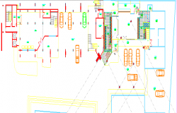 Layout plan of a office car parking dwg file