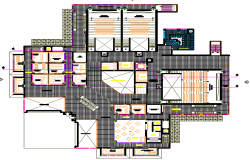 Layout plan of a office dwg file