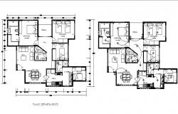 Residential Architecture Design in AutoCAD File