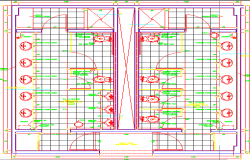 Layout plan of a sanitary dwg file