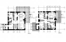Layout plan of a villa dwg file