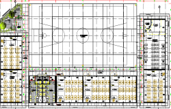 Layout plan of college dwg file