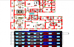Layout plan of government building dwg file