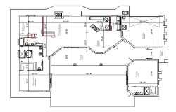 Layout plan of house dwg file