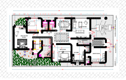 Layout plan of residential Project detail dwg file