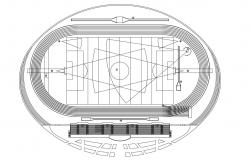 Layout plan of sports playground 2d view dwg autocad software file