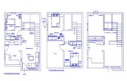 Layout plan of the house in autocad