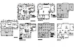 Layout plan of the office building with detail dimension in dwg file