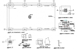 Layout plan with sectional detail