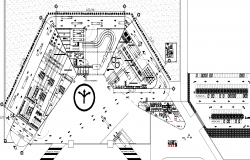 Layout plot Manufacturing plant detail