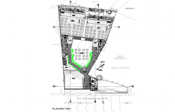 Layout plot Salon social plan detail dwg file
