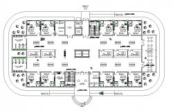 Layout plot office building dwg file
