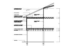 Left side constructive section details of house dwg file