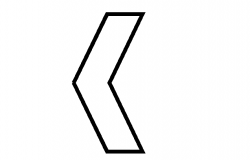 Left symbol arrow design