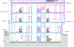 Level of a building and its elevation dwg file