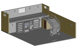 Library 3d view dwg file