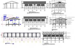 Library Building Project AutoCAD Drawing