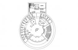 Library Design Architecture CAD plan